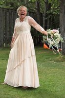 A-Line/Princess V-neck Floor-Length Chiffon Lace Mother of the Bride Dress With Beading Sequins Cascading Ruffles (267177726)