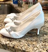 Women's Satin Stiletto Heel Closed Toe Pumps With Rhinestone (273177527)