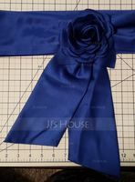 Simple Satin Sash With Flower (015033823)