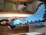 Trumpet/Mermaid Sweetheart Sweep Train Lace Prom Dresses With Sequins Split Front (018146377)