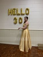 A-Line/Princess Off-the-Shoulder Floor-Length Satin Prom Dresses With Beading Sequins (018093796)