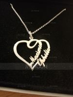 Custom Heart Two Name Necklace Heart Necklace - Birthday Gifts (288211311)