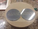 Groom Gifts - Personalized Classic Stainless Steel Coaster (Set of 2) (257175134)