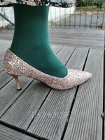 Women's PU Pumps With Sparkling Glitter (047257955)
