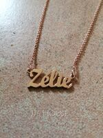 Custom 18k Rose Gold Plated Letter Name Necklace - Birthday Gifts (288217712)