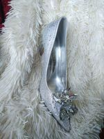 Women's Leatherette Stiletto Heel Closed Toe Pumps With Rhinestone Crystal (273209060)