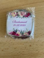 Bridesmaid Gifts - Personalized Stainless Steel Compact Mirror (256184476)