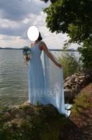 One-Shoulder Floor-Length Chiffon Evening Dress With Ruffle Split Front (271194536)