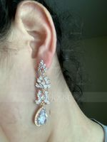 Ladies' Elegant Alloy/Zircon Cubic Zirconia Earrings For Bride/For Bridesmaid/For Mother (011234515)