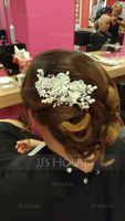 Beautiful Rhinestone/Alloy/Artificial Silk Flowers & Feathers With Venetian Pearl (042075711)