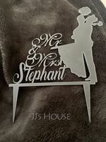 """Personalized """"Mr. & Mrs.""""/Happy Couple Acrylic Cake Topper (118251099)"""