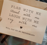 Bridesmaid Gifts - Classic Elegant Paper Wedding Day Card (256176220)