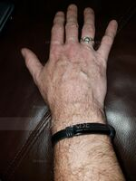 Custom Morse Code Men Braided Leather Bracelets - Father's Day Gifts (106236162)