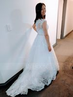 Ball-Gown/Princess Sweetheart Court Train Tulle Wedding Dress With Beading Sequins (002186365)