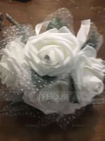 Round Silk/Foam Bridal Bouquets/Bridesmaid Bouquets (Sold in a single piece) - (123148770)
