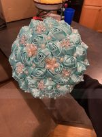 Round Satin/Rhinestone/Imitation Pearl Bridal Bouquets (Sold in a single piece) - (123182197)