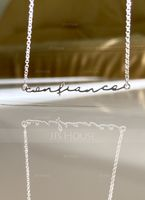 Bridesmaid Gifts - Personalized Fascinating Sterling Silver Name Necklace (256215318)