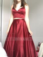 Ball-Gown/Princess Sweetheart Floor-Length Satin Prom Dresses (018138378)