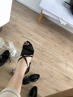 Women's Suede Heels Pumps Latin With Ankle Strap Dance Shoes (274203942)