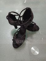Women's Microfiber Leather Latin Dance Shoes (053121390)