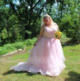 Ball-Gown Sweetheart Court Train Organza Wedding Dress With Ruffle Beading (002171957)