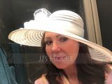 Ladies' Amazing Papyrus/Tulle Floppy Hats/Kentucky Derby Hats/Tea Party Hats (196089176)