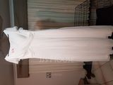A-Line V-neck Floor-Length Chiffon Bridesmaid Dress With Cascading Ruffles Pockets (007176734)