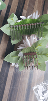 Beautiful Silk Flower/Frosted flower Tiaras/Flower Girl's Headwear/Combs & Barrettes/Flowers & Feathers (Set of 2) (042254300)