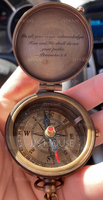 Groom Gifts - Personalized Vintage Copper Compass (257235966)