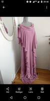 A-Line Cowl Neck Floor-Length Chiffon Mother of the Bride Dress With Beading Sequins Cascading Ruffles (008040843)