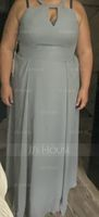 A-Line Scoop Neck Floor-Length Chiffon Bridesmaid Dress (007206466)