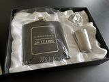 Groomsmen Gifts - Personalized Vintage Stainless Steel Flask (258173714)