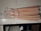 A-Line Scoop Neck Knee-Length Chiffon Lace Bridesmaid Dress With Bow(s) (007153337)