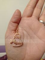 Custom Silver Heart Letter Name Necklace Heart Necklace With Butterfly - Birthday Gifts (288250662)