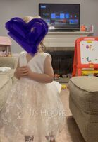 A-Line Knee-length Flower Girl Dress - Tulle/Lace Sleeveless V-neck With Bow(s) (010141168)
