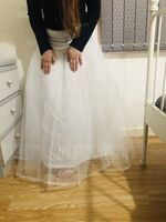 Women Polyester 3 Tiers Petticoats (037120408)