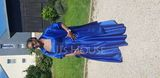 A-Line Square Neckline Floor-Length Satin Prom Dresses (018192332)