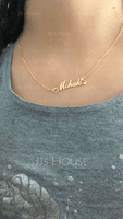Custom 18k Gold Plated Heart Name Necklace With Heart - (288251818)