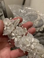 Ladies Beautiful Crystal/Alloy/Imitation Pearls/Silk Flower Tiaras (042114394)