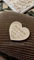 Personalized Heart-shaped Wooden Save-the-date Magnets (Set of 10) (118215515)