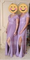 A-Line V-neck Floor-Length Chiffon Bridesmaid Dress With Split Front (007221211)