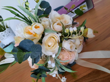 Classic Hand-tied Satin/Ribbon/Lace/Artificial Flower Bridal Bouquets/Bridesmaid Bouquets (Sold in a single piece) - Bridal Bouquets/Bridesmaid Bouquets (123254476)