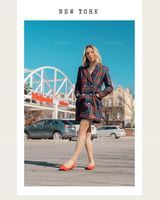 Polyester With Plaid Above Knee Dress (199229549)