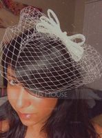 Damene ' Sjarm Imitert Perle/Tyll med Imitert Perle/Bowknot/Tyll Fascinators/Kentucky Derby Hatter/Tea Party Hats (196105067)