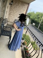 Off-the-Shoulder Floor-Length Chiffon Junior Bridesmaid Dress With Bow(s) (268262069)