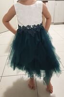Ball-Gown/Princess Knee-length Flower Girl Dress - Tulle Lace Sleeveless Scoop Neck With Lace Beading Sequins V Back (269260633)