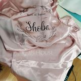 Personalized Charmeuse Bride Bridesmaid Mom Junior Bridesmaid Lace Robes Embroidered Robes (248220060)