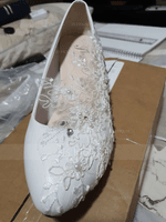 Women's Leatherette Stiletto Heel Closed Toe Pumps With Beading Stitching Lace (047153508)