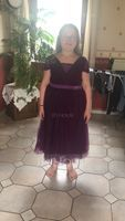 A-Line/Princess Square Neckline Knee-Length Tulle Junior Bridesmaid Dress With Ruffle (009130628)