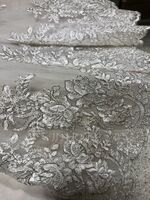 One-tier Lace Applique Edge Elbow Bridal Veils (006146872)